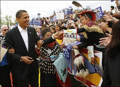 Obama adopted into the Crow Nation