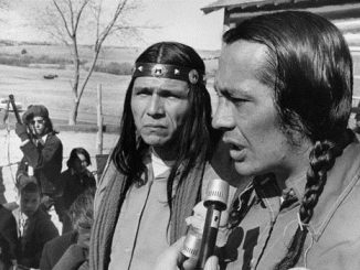 American Indian Movement activists and residents of the Pine