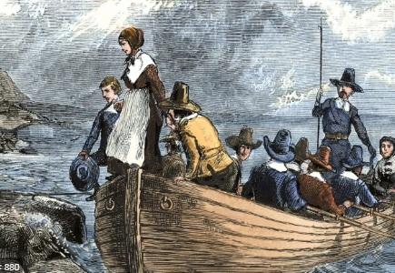 Pilgrims arrived in North America