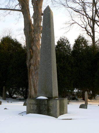 the monument for Mohegan leader Uncas