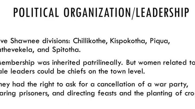 Shawnee Political Organization