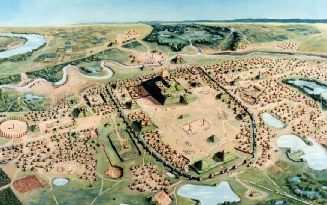 The ancient city of Cahokia