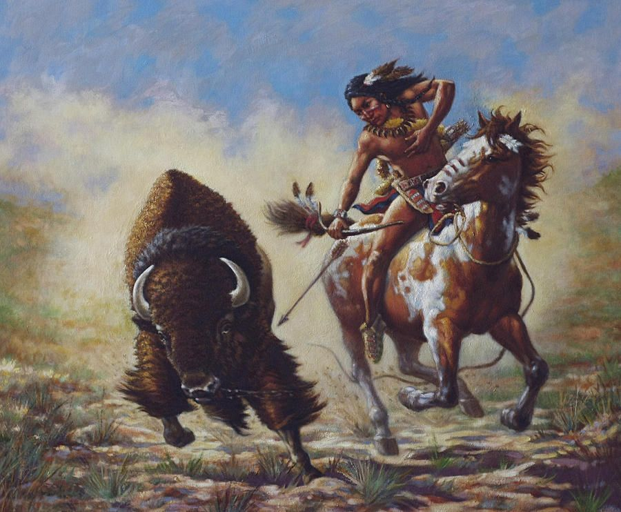 Horse-Mounted Buffalo Hunting on the Northern Plains