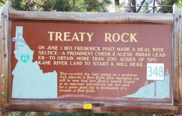 Treaty Rock and the Coeur d'Alene Indians
