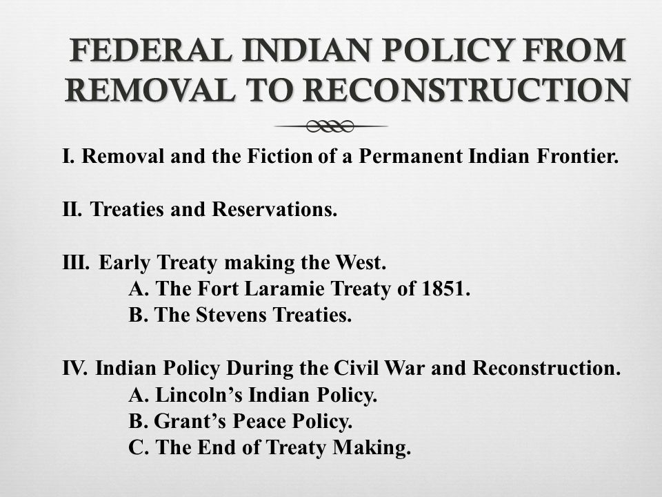 Federal Indian Policy in 1817