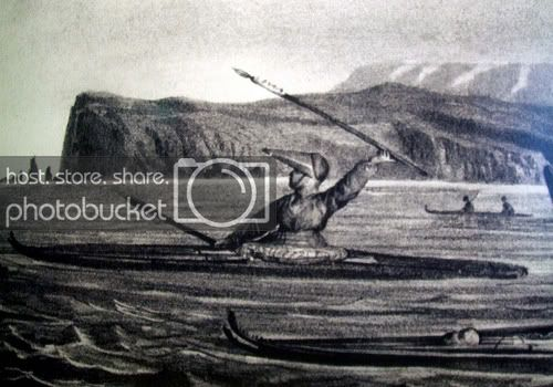 Illustration of an Alutiiq Hunter