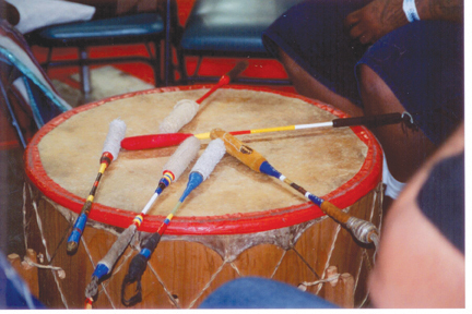 Photo of Lakota drum by Ardis McCrae/Native Sun News