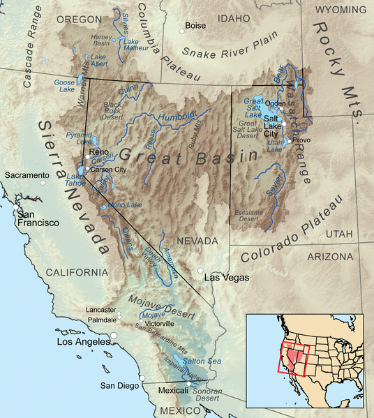 Great Basin Map