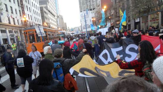 Native Nations march in San Francisco, California., March 10, 2017