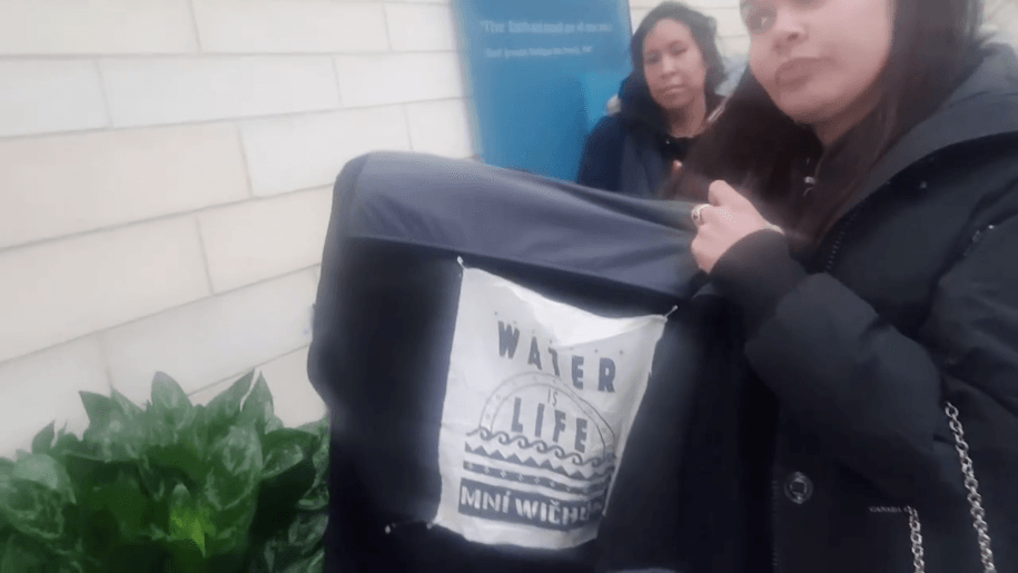 Water Protectors barred from entering the National Museum of the American Indian for wearing a Stand with Standing Rock patch